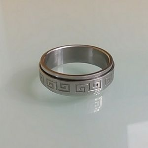 Ring mens  stalinless stell  #13 Geométric  style